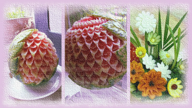 Fruit Carving Displays