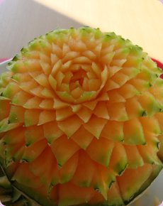 A Melon Becomes A Beautiful Flower!
